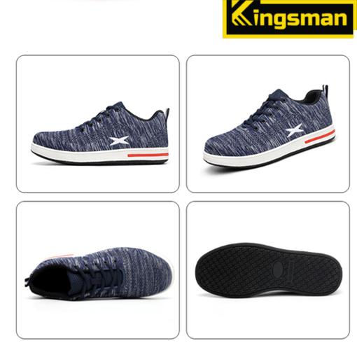 Giày bảo hộ kingsman X ( Xanh )   4 mặt