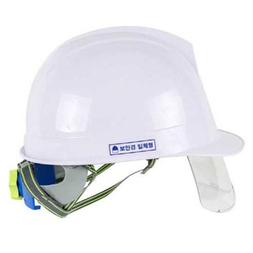 Mũ bảo hộ Hàn Quốc Kukje màu trắng có kính