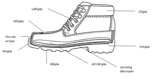 cấu tạo giày bảo hộ