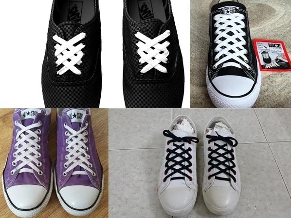 Buộc dây giày kiểu mạng nhện