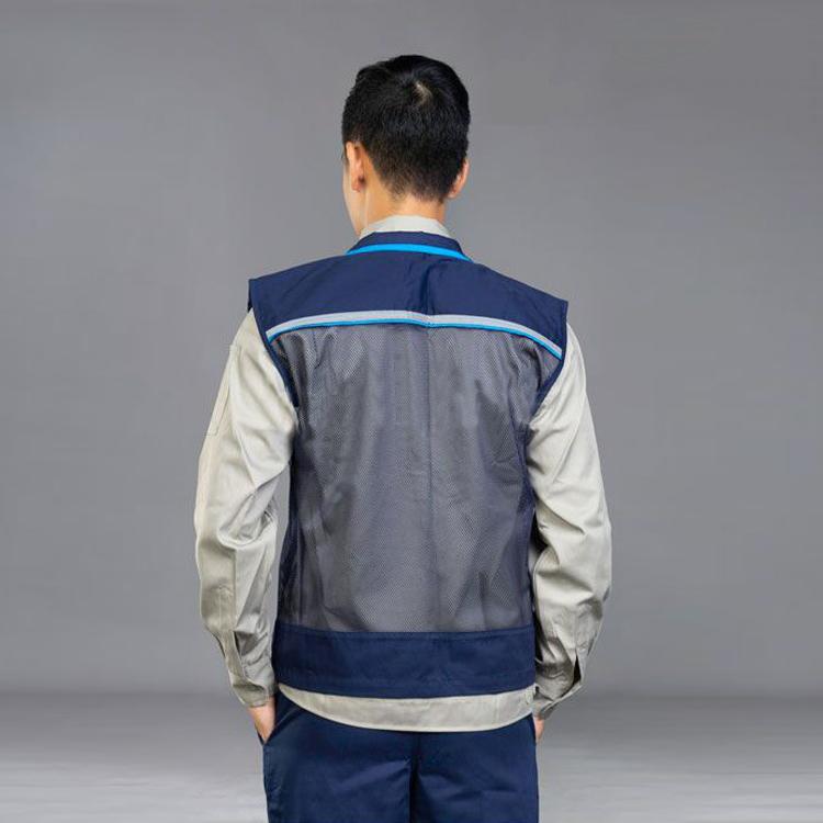 Áo ghile vải pangrim Hàn Quốc phối lưới | Mặt sau
