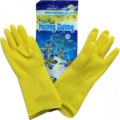 găng tay cao su Hướng Dương màu vàng