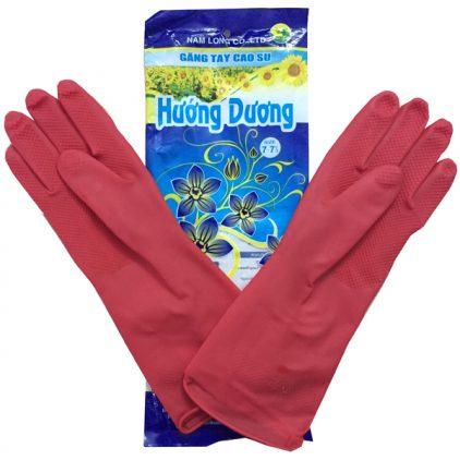 găng tay cao su Hướng Dương màu hồng