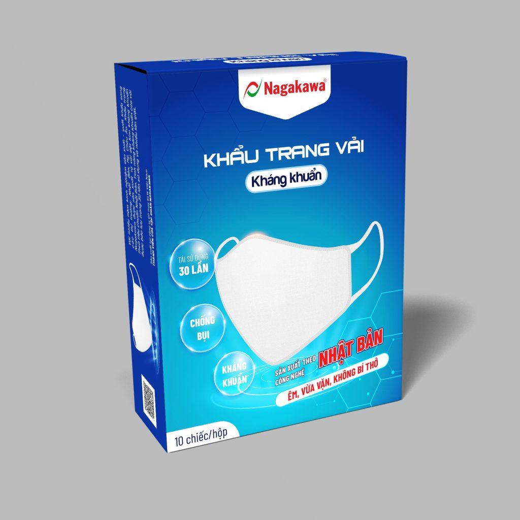 Khẩu trang vải kháng khuẩn 2 lớp Nagakawa