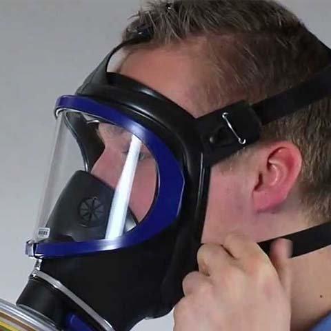 Mặt nạ phòng độc có kính Drager X6300