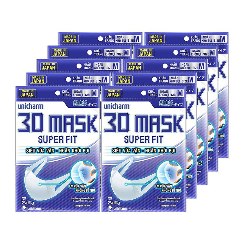 Khẩu trang Unicharm 3D Mask Superfit