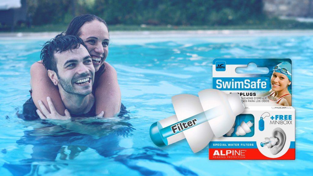 Nút bịt tai chống nước khi bơi Alpine SwimSafe
