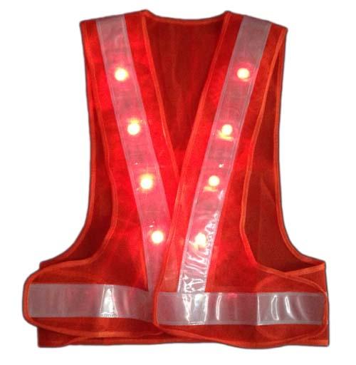 Áo phản quang chữ A có đèn LED màu đỏ