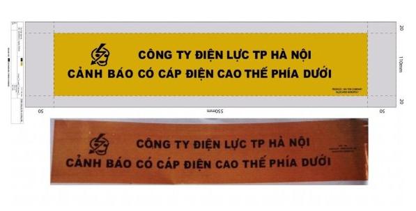 Băng Cảnh Báo điện lực Hà Nội K30