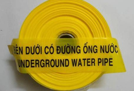 Băng cảnh báo đường ống áp lực