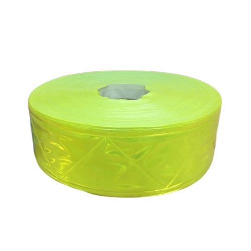Dây phản quang nhựa bản 5cm màu vàng chanh